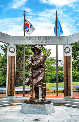 Photograph - Korean War Veterans Memorial by Boris Mordukhayev