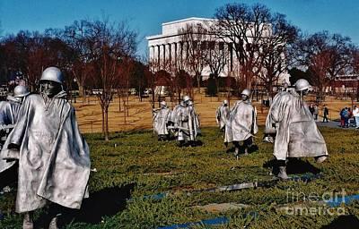 Photograph - Korean War Veterans Memorial by D Hackett