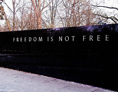 Photograph - Korean War Veterans Memorial Freedom Is Not Free by Bob and Nadine Johnston