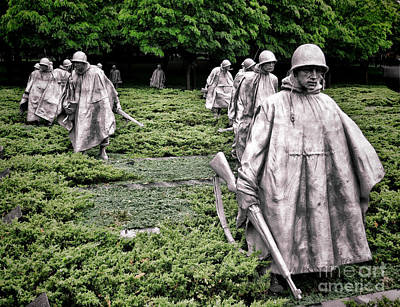 Washington D.c Wall Art - Photograph - Korean War Veterans Memorial by Olivier Le Queinec