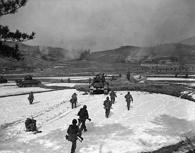 Korean War Photograph - Korean War Winter Scene by Underwood Archives