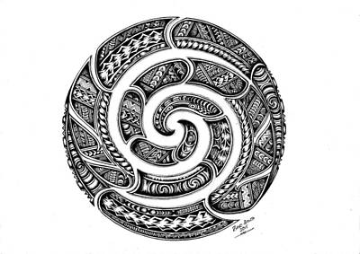Koru E Rua..the Double Koru. Original by Bino Smith