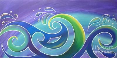 Koru Surf Print by Reina Cottier