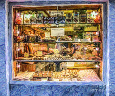 Digital Art - Kosher Bakery And Grocery Volpe by Liz Leyden