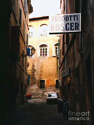 Photograph - Kosher Products Old Roman Jewish Ghetto by Merton Allen