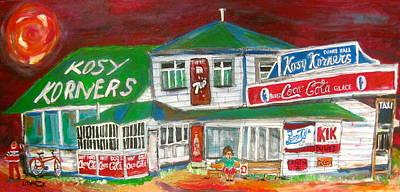 Montreal Buildings Painting - Kosy Korners Plage Laval by Michael Litvack