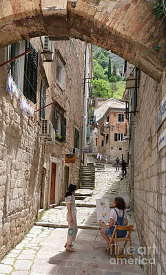 Photograph - Kotor Old Town Pathway by Phil Banks
