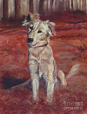 Mixed Labrador Retriever Painting - Koukla by Tom Blodgett Jr