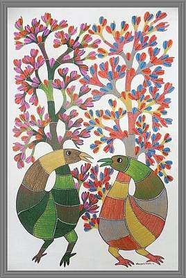 Gond Tribal Art Painting - Kpt 63 by Kaushal Prasad Tekam
