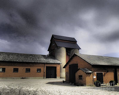 Photograph - Kragerup Gods Grain Barn by Michael Canning