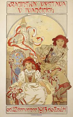 Russian Girl Wall Art - Painting - Krajinskka Vystava V Ivancicich by Alphonse Marie Mucha