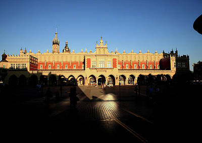 Photograph - Krakow Market Square By Night by Tony Brown