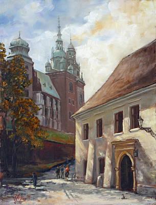 Painting - Krakow - Wawel- Kanonicza Street by Irek Szelag