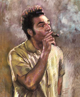 Celebrities Wall Art - Pastel - Kramer by Ylli Haruni