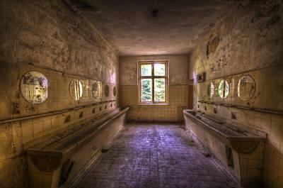 Glass Wall Digital Art - Kramnitz Washroom by Nathan Wright