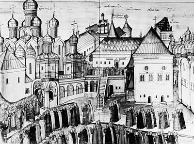 Russian Orthodox Painting - Kremlin, 17th Century by Granger