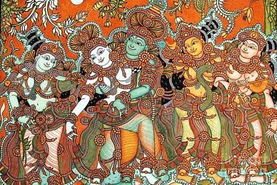 Kerala Painting - Krishna And Radha by Pg Reproductions