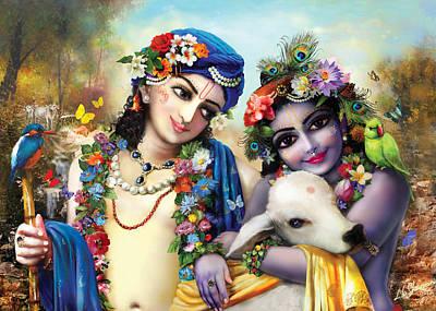 Painting - krishna-Balarama by Lila Shravani