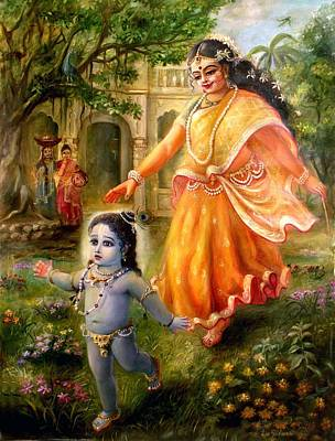 Painting - Krishna Damodara by Lila Shravani
