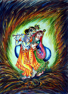 Lovers Painting - Krishna by Harsh Malik