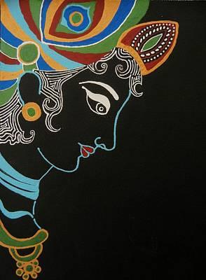 The Universe Mixed Media - Krishna II by Kruti Shah