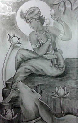 Painting - Krishna by Mayur Sharma