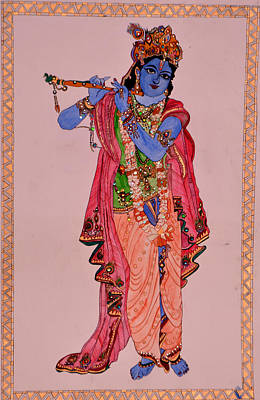 Incarnation Of Lord Vishnu Painting - Krishna by Neena Agarwal