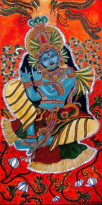 Painting - Krishna by Saranya Haridasan