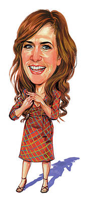 Caricature Painting - Kristen Wiig by Art