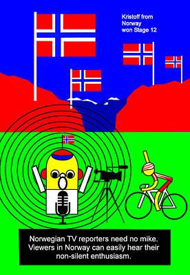 Digital Art - Kristoff From Norway Won Stage 12 by Asbjorn Lonvig