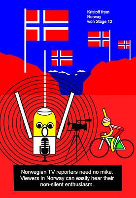 Digital Art - Kristoff Won Stage 15  by Asbjorn Lonvig