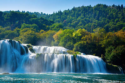Photograph - Krka Waterfalls by Alexey Stiop