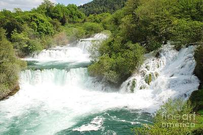 Krka Waterfalls Croatia Art Print