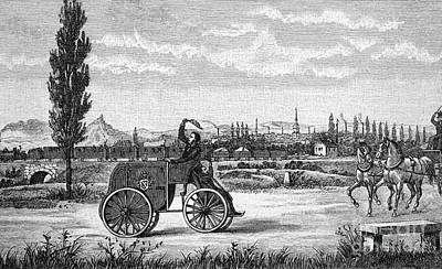 Kroener's Driving Machine, 1840s Art Print by Bildagentur-online
