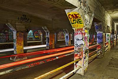 Steven Michael Photograph - Krogg Street Tunnel by Steven Michael