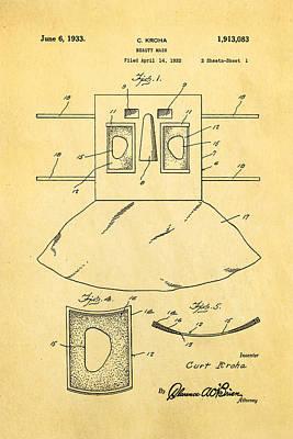 Unique Unusual Gifts Photograph - Kroha Beauty Mask Patent Art 2 1933 by Ian Monk