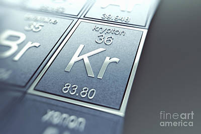Krypton Chemical Element Print by Science Picture Co
