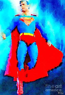 Comics Painting - Kryptonman by Helge