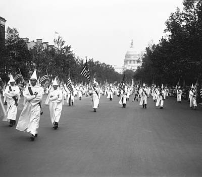 Capitol Building Photograph - Ku Klux Klan Parade by Library of Congress