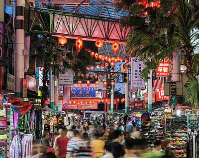 Photograph - Kuala Lumpur, Chinatown Night Market by Martin Puddy