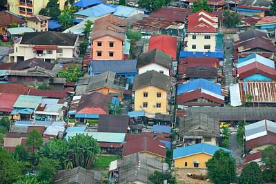 Photograph - Kuala Lumpur Kampung Baru Houses by Steven Richman