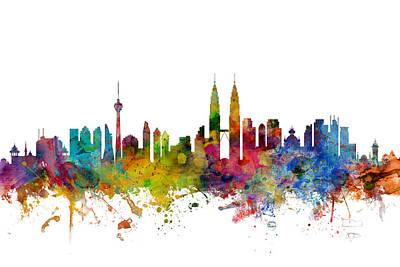 Kuala Lumpur Malaysia Skyline Art Print