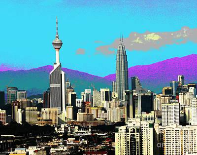 Photograph - Kuala Lumpur Skyline by Larry Oskin