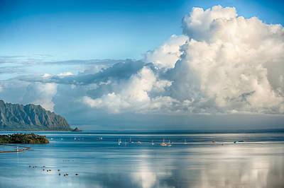 Photograph - Kualoa With Rain Clouds by Dan McManus