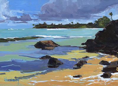 Haleiwa Painting - Kuau Cove Beach by Stacy Vosberg