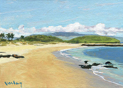 Kuau Sandy Beach Maui Original by Stacy Vosberg