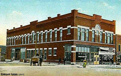 Painting - Kudemer Block Theatre In Madison S D 1913 by Dwight Goss