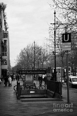 Kudamm Photograph - Kufurstendamm U-bahn Station Entrance Berlin Germany by Joe Fox