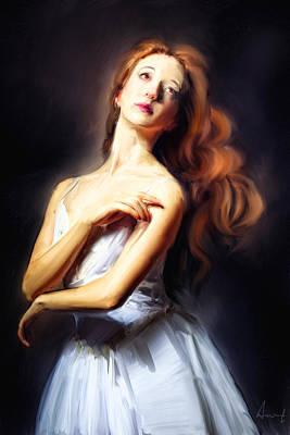 Redhead Digital Art - Kuklarusskaya by H James Hoff