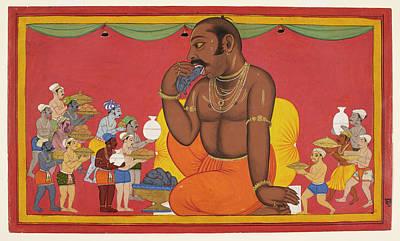 Kumbhakarna Is Fed Art Print by British Library